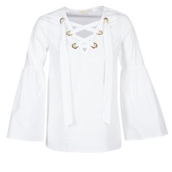 Textil Mulher Tops / Blusas MICHAEL Michael Kors POPLIN GRMT LCE UP T. Branco