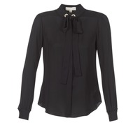 Textil Mulher Tops / Blusas MICHAEL Michael Kors GROMMET NK TIE BLSE Preto