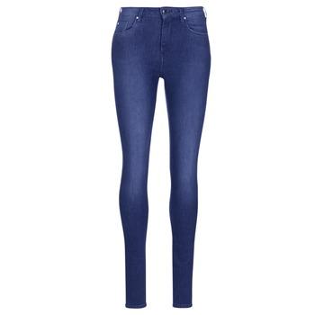 Textil Mulher Gangas Skinny Pepe jeans REGENT Azul / Cristal / Swarorsky