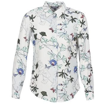 Textil Mulher camisas Tommy Hilfiger MIRAN-SHIRT-LS Branco