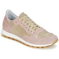 Sapatos Mulher Sapatilhas Yurban CROUTA Rosa / Dourado