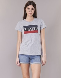 Textil Mulher T-Shirt mangas curtas Levi's THE PERFECT TEE Cinza