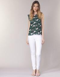 Textil Mulher Calças Le Temps des Cerises 316 Branco