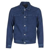 Textil Homem casacos de ganga Tommy Jeans TJM STREET TRUCKER JKT Azul
