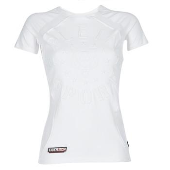 Textil Mulher T-Shirt mangas curtas Philipp Plein Sport FORMA LINEA Branco / Branco