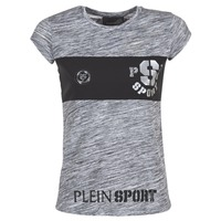 Textil Mulher T-Shirt mangas curtas Philipp Plein Sport THINK WHAT U WANT Cinza
