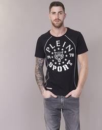 Textil Homem T-Shirt mangas curtas Philipp Plein Sport LIONEL Preto / Branco