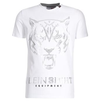 Textil Homem T-Shirt mangas curtas Philipp Plein Sport EDBERG Branco / Prata