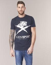 Textil Homem T-Shirt mangas curtas Philipp Plein Sport BORIS Marinho / Prata