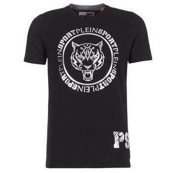 Textil Homem T-Shirt mangas curtas Philipp Plein Sport IVAN Preto / Prata