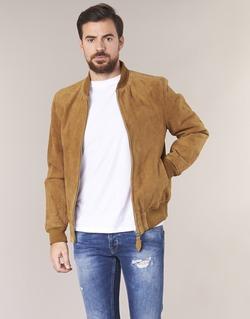 Textil Homem Casacos de couro/imitação couro Schott LC301 Conhaque