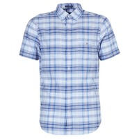 Textil Homem Camisas mangas curtas Gant BLUE PACK MADRAS REG Azul