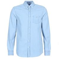Textil Homem Camisas mangas comprida Gant THE INDIGO REG Azul