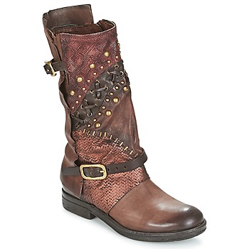 Sapatos Mulher Botas baixas Airstep / A.S.98 VERTI Choco / Amaranto