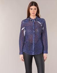 Textil Mulher camisas Guess BORICE Azul