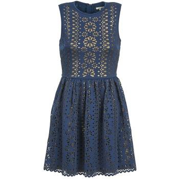 Textil Mulher Vestidos curtos Manoush NEOPRENE Azul / Dourado