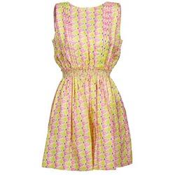 Textil Mulher Vestidos curtos Manoush FLAMINGO Rosa / Fluo / Amarelo