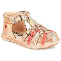 Sapatos Rapariga Sandálias GBB PERLE Rosa / Metal