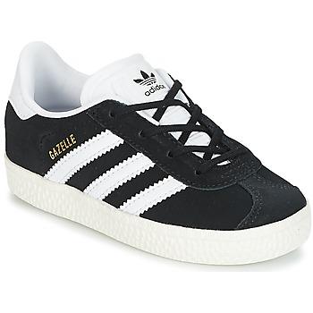 Sapatos Criança Sapatilhas adidas Originals GAZELLE I Preto / Branco
