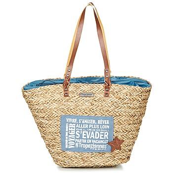 Malas Mulher Cabas / Sac shopping Les Tropéziennes par M Belarbi AGAY Bege / Azul