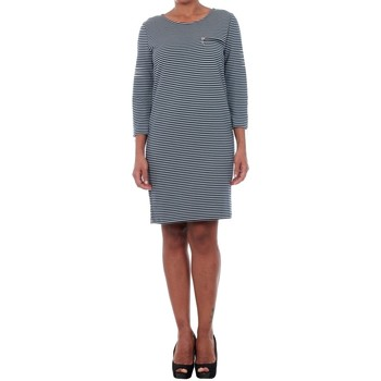 Textil Mulher Vestidos curtos Jacqueline De Yong 15142620 JDYSAXO 3/4 DRESS JRS NIGHT SKY/WHITE Azul marino
