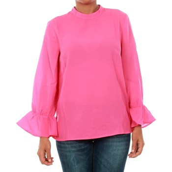 Textil Mulher Tops / Blusas Only 15149954 ONLTOKE FLARE 3/4 TOP WVN FUCHSIA PURPLE Fucsia