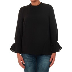 Textil Mulher Tops / Blusas Only 15149954 ONLTOKE FLARE 3/4 TOP WVN BLACK Negro