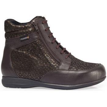 Sapatos Mulher Sapatilhas de cano-alto Calzamedi BOOTS  DIABETICS DOUBLE SCALES ZIPPER W MARROM