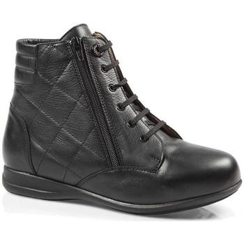 Sapatos Mulher Sapatilhas de cano-alto Calzamedi BOOTS  DIABETICS DOUBLE SCALES ZIPPER W NEGRO