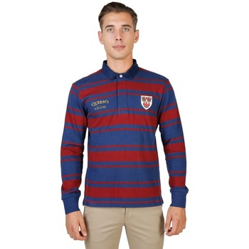 Textil Homem Polos mangas compridas Oxford University - queens-rugby-ml 8