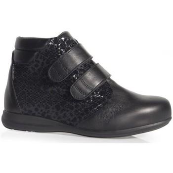 Sapatos Mulher Mocassins Calzamedi BOOTS  PELE DOBLE IMPRESSA W NEGRO