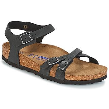 Sapatos Mulher Sandálias Birkenstock KUMBA SFB Preto