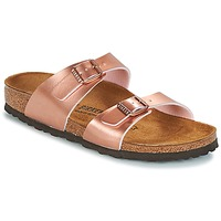 Sapatos Mulher Chinelos Birkenstock SYDNEY Rosa / Ouro
