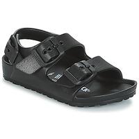 Sapatos Rapaz Sandálias Birkenstock MILANO-EVA Preto