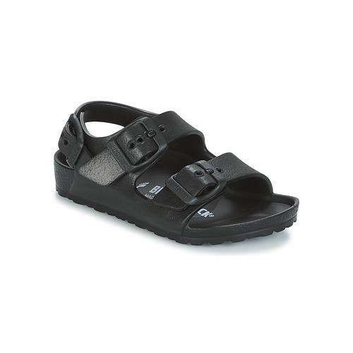 Sapatos Criança Sandálias Birkenstock MILANO-EVA Preto