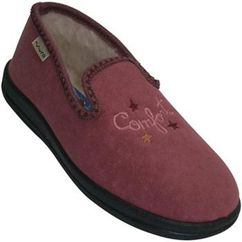 Sapatos Mulher Chinelos Muro Plano fechado sapatos com pele de dentro rosa