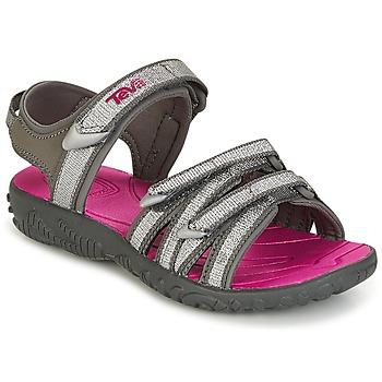 Sapatos Rapariga Sandálias Teva TIRRA Prata / Vermelho