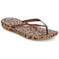 Sapatos Mulher Chinelos FitFlop IQUSHION ERGONOMIC FLIP-FLOPS Bronze / Mix / Leopardo