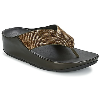 Sapatos Mulher Chinelos FitFlop CRYSTALL Metálico