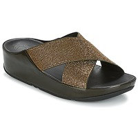 Sapatos Mulher Chinelos FitFlop CRYSTALL SLIDE Metálico