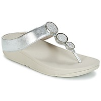 Sapatos Mulher Chinelos FitFlop HALO TOE THONG SANDALS Prata