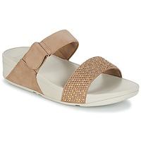 Sapatos Mulher Chinelos FitFlop LULU POPSTUD SLIDE SANDAL Bege