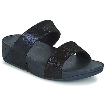 Sapatos Mulher Chinelos FitFlop SHIMMY SUEDE SLIDE Azul