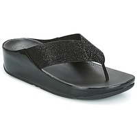 Sapatos Mulher Chinelos FitFlop CRYSTALL Preto