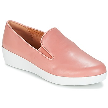 Sapatos Mulher Slip on FitFlop SUPERSKATE Rosa