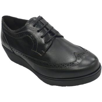 Sapatos Mulher Sapatos Sigo Sapato feminino com laços em cunha inglesa  em Preto negro