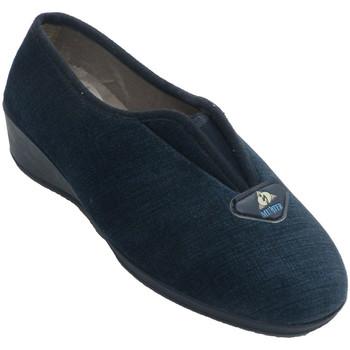 Sapatos Mulher Chinelos Muñoz Y Tercero Sapato fechado com elástico no peito do pé  em Azul-marinho azul