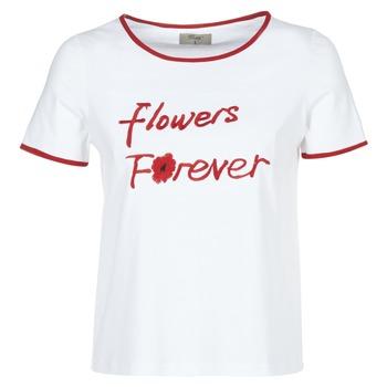 Textil Mulher T-Shirt mangas curtas Betty London INNATIMBI Branco / Vermelho