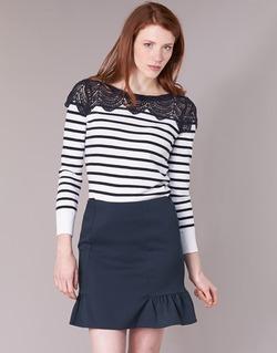 Textil Mulher camisolas Naf Naf MLACY Cru / Marinho