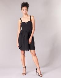 Textil Mulher Vestidos curtos Naf Naf LENY R1 Preto
